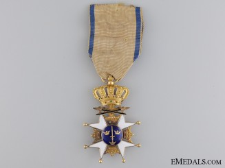 An Early Swedish Order of the Sword in Gold; Circa 1860