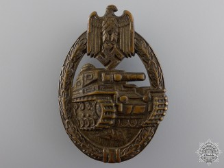 An Early Tank Assault Badge by  B.H. Mayer