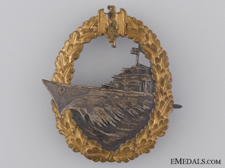 An Early War Destroyer War Badge by Schwerin, Berlin