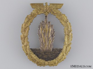 An Early War Kriegsmarine Mine Sweeper Badge