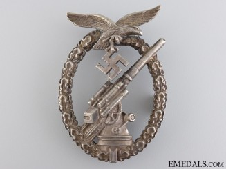 An Early War Luftwaffe Flak Badge in Tombac
