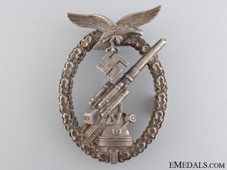 An Early War Luftwaffe Flak Badge in Tombac