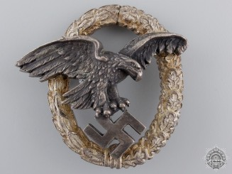 An Early War Luftwaffe Observer's Badge by C.E.Juncker