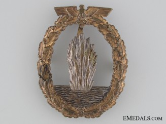 An Early War Kreigsmarine Minesweeper War Badge