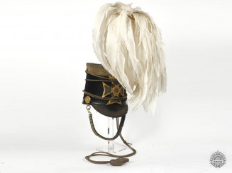 An Extremely Rare 1845 Montreal Dragoons Officer's Shako