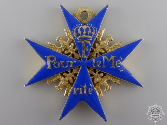 An Exquisite Pour le Mérite c.1770-90; Official Issue Cross
