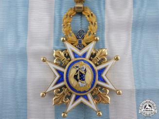 An Exquisite Spanish Order of Charles III in Gold; Commander c.1880
