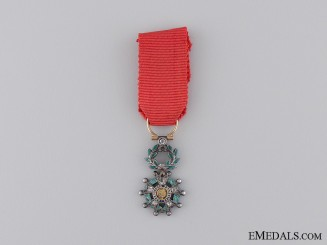 France, Fourth Republic. A Miniature Legion D'Honneur, Knight, with Diamonds