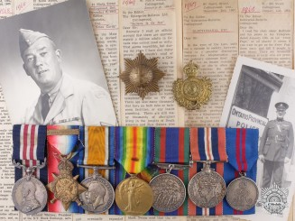 An Extensive First War Military Medal Group to an OPP Officer