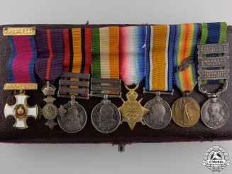 An Extensive Gold Distinguished Service Order Miniature Group