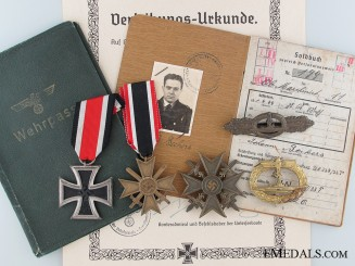 An Extensive WWII Group to Johann Beckers Serving Aboard U-36