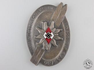 An HJ 1935-36 Team Skiing 3rd Place Award