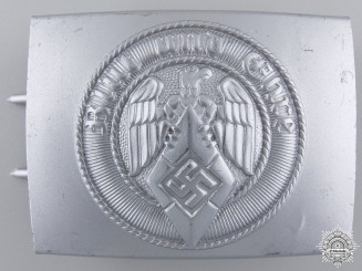 An HJ Belt Buckle by Wilhelm Schroder & Co. with Tag