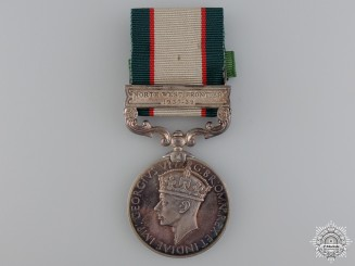 An India General Service Medal to 12th Frontier Force Regiment