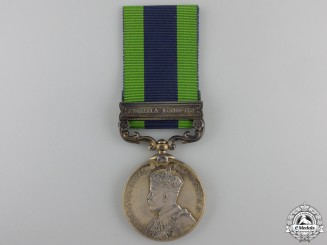 An India General Service Medal 1908 to the Volunteer Force