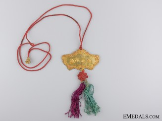 An Indochina (Annam) Order of the Golden Gong (The Khanh)