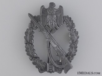 An Infantry Badge Silver Grade; Maker Marked