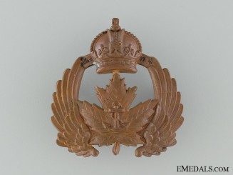 An Inter-War Royal Canadian Naval Air Service Cap Badge