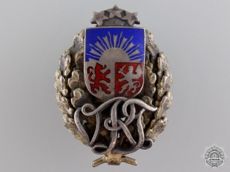 An Interwar Latvian Military Badge  c.1930