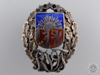An Interwar Latvian Military Badge