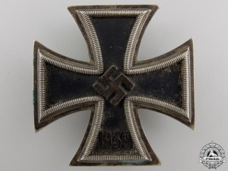 An Iron Cross 1st Class 1939; Awarded to 'Unteroffizier Ewald Opitz