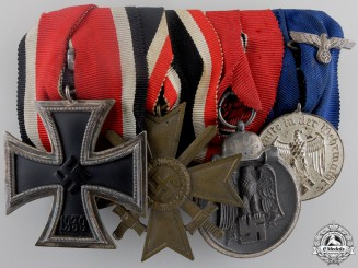An Iron Cross & Army Long Service Medal Bar