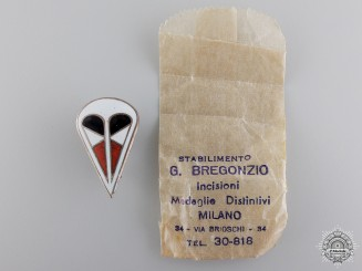 An Italian 1st Parachute Corps Ca Badge; Mint