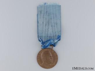 An Italian Air Force Long Service Medal; Bronze Grade