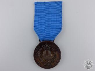 An Italian Al Valore Militare Medal by S.J; Bronze Grade