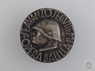 An Italian Fascist Badge