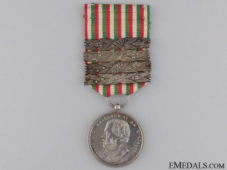 An Italian Independence Medal with Four Clasps