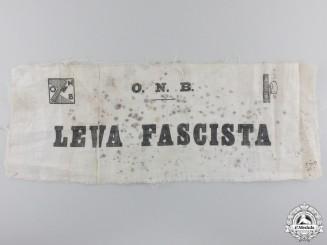 """An Italian Leva Italian Youth Fascist """"Opera Balilla"""" Armband"""