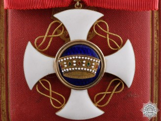 Italy, Kingdom. An Order of the Crown in Gold, Commander's Cross, c.1910
