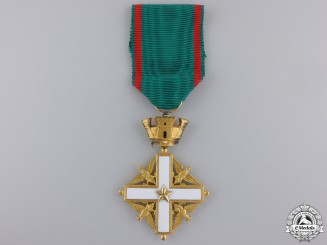 An Italian Order of Merit; Knight's Breast Badge