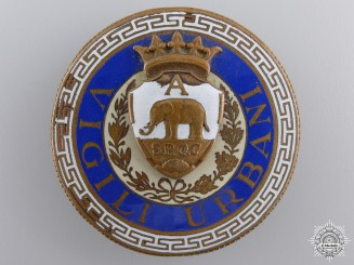 Italy, Kingdom. A Vigili Urbani Badge, by S.A.E.Pagni