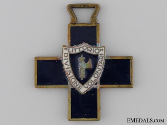 An Italian Volunteers Littorio Division Commemorative Cross