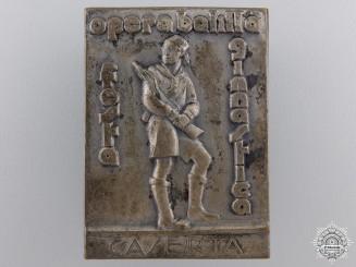 An Italian Youth Fascist Opera Balilla Caserta Badge