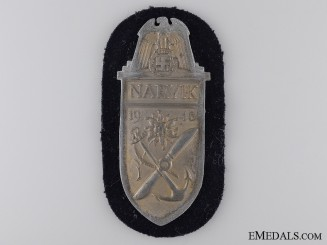 A Kriegsmarine Issued Narvik Shield