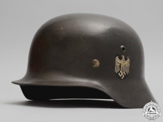 An M35 Double Decal Army (Heer) Helmet by  Emaillerwerk AG, Fulda3800