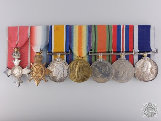 An MBE & Long Service Medal Bar to Lieutenant Arthur R. Hughes