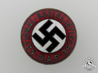 An NSADP Party Membership Badge by Apreck & Vrage, Leipzig