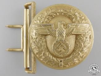 An NSDAP Leader's Belt Buckle by Wilhelm Schroder & Cie