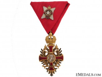 An Order of Franz Joseph in Gold