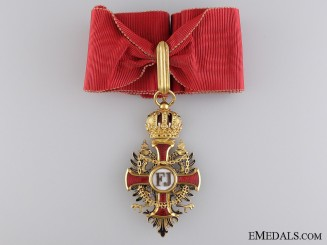 An Order of Franz Joseph in Gold; Commander's Neck Cross