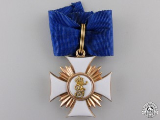 An Order of Friedrich in Gold; Knight First Class