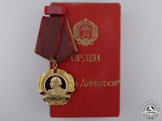 Bulgaria, Peoples Republic. An Order of Georgi Dimitrov in Gold, with Case