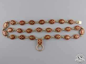 Bulgaria, Kingdom. An Order of Saint Cyril and Saint Methodius, Collar in Gold, c.1910