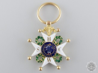 Westphalia, Kingdom. An Order of St. Phillip of the Lion of Limburg in Gold, Knight's Cross, c.1840