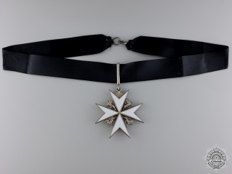 An Order of St. John; Commander's Neck Badge