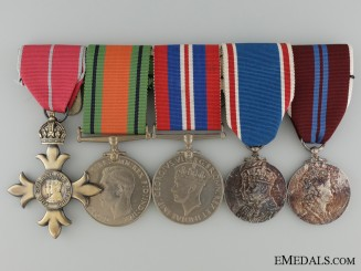 An Order of the British Empire Second War Medal Grouping